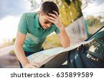 bad navigation. young man... | Shutterstock . vector #635899589