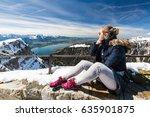 girl at the niederhorn... | Shutterstock . vector #635901875