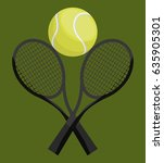 tennis sport design | Shutterstock .eps vector #635905301