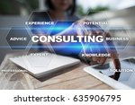 consulting business concept.... | Shutterstock . vector #635906795