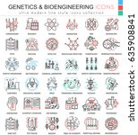 genetics and biochemistry... | Shutterstock . vector #635908841