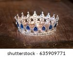 royal luxury gold crown with... | Shutterstock . vector #635909771