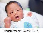 asian baby boy | Shutterstock . vector #635913014