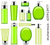 vector cosmetic packaging icons ... | Shutterstock .eps vector #635913977