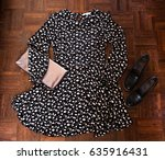 outfit of the romantic girl.... | Shutterstock . vector #635916431