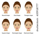 set of different types of woman ... | Shutterstock .eps vector #635918777