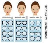spectacle frames shapes for...   Shutterstock .eps vector #635919281