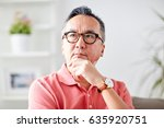 people concept   asian man... | Shutterstock . vector #635920751