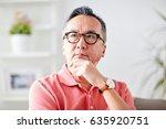 people concept   asian man... | Shutterstock . vector #635920751