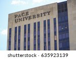 pace university in manhattan ... | Shutterstock . vector #635923139