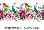 seamless border  botanical... | Shutterstock . vector #635924531
