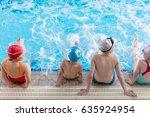 happy children kids group at... | Shutterstock . vector #635924954