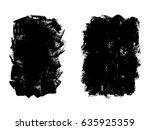 set of black paint  ink brush...   Shutterstock .eps vector #635925359