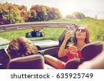 leisure  road trip  travel and... | Shutterstock . vector #635925749