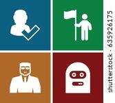 guy icons set. set of 4 guy... | Shutterstock .eps vector #635926175