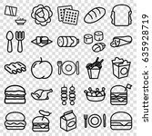 meal icons set. set of 25 meal... | Shutterstock .eps vector #635928719