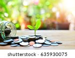 coins saving growth up to...   Shutterstock . vector #635930075