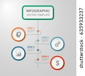 vector infographic template for ... | Shutterstock .eps vector #635933237