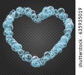 shampoo bubbles heart shape on... | Shutterstock .eps vector #635935019