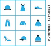 garment colorful icons set.... | Shutterstock .eps vector #635935895