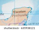 yucatan peninsula  mexico | Shutterstock . vector #635938121