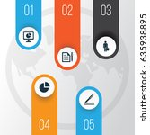trade icons set. collection of... | Shutterstock .eps vector #635938895