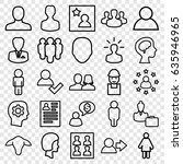 profile icons set. set of 25... | Shutterstock .eps vector #635946965