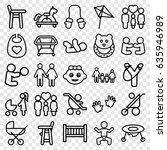 kid icons set. set of 25 kid... | Shutterstock .eps vector #635946989