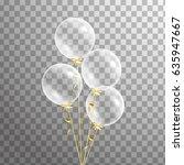bunch of transparent balloons... | Shutterstock .eps vector #635947667