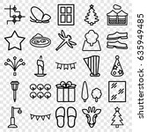 decorative icons set. set of 25 ... | Shutterstock .eps vector #635949485