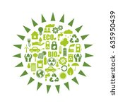 ecology icons | Shutterstock .eps vector #635950439