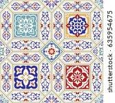 seamless ceramic tile with... | Shutterstock .eps vector #635954675