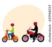 motorcycle  motorbike and... | Shutterstock .eps vector #635968319