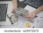 business accountant with... | Shutterstock . vector #635972075