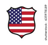 vector shield us flag | Shutterstock .eps vector #635978189