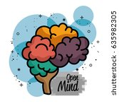human brain design | Shutterstock .eps vector #635982305