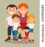 big family icon | Shutterstock .eps vector #635983685