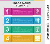 modern exam infographic... | Shutterstock .eps vector #635989655