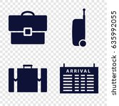 voyage icons set. set of 4... | Shutterstock .eps vector #635992055