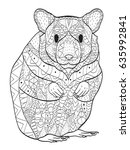 rodent coloring book vector...   Shutterstock .eps vector #635992841
