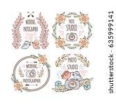 photo studio and wedding... | Shutterstock .eps vector #635999141