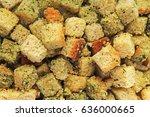 crouton soup balls cubes. soup... | Shutterstock . vector #636000665