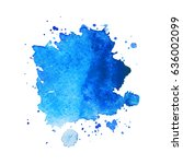 abstract hand drawn watercolor... | Shutterstock .eps vector #636002099