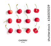 Seamless Pattern With Cherry....