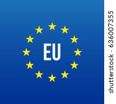 eu logo. european union | Shutterstock .eps vector #636007355