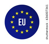 eu logo. european union | Shutterstock .eps vector #636007361