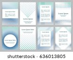 flyers with patterns   polka... | Shutterstock .eps vector #636013805