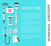 healthcare  concept design... | Shutterstock .eps vector #636015059