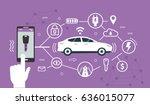 smart car concept design for... | Shutterstock .eps vector #636015077