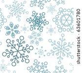 winter   blue christmas... | Shutterstock .eps vector #63601780